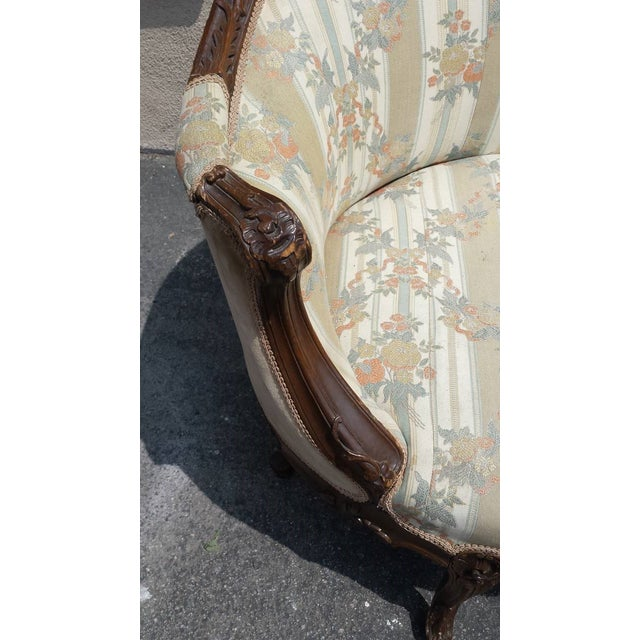Antique French Louis XV Style Settee - Image 4 of 5