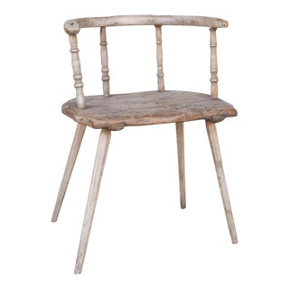 19th Century Primitive Chair from Sweden