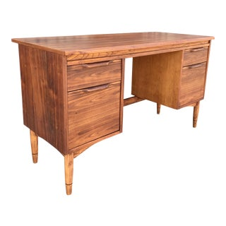 Mid-Century Desk With Sculpted Pulls