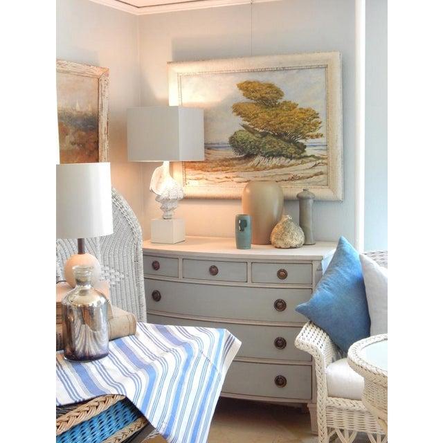 Image of Swedish Blue and White Dresser