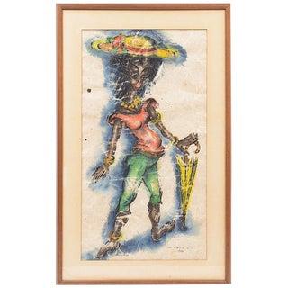 """Original Vintage Signed Watercolor """"St. Croix, V.I. 1963"""""""
