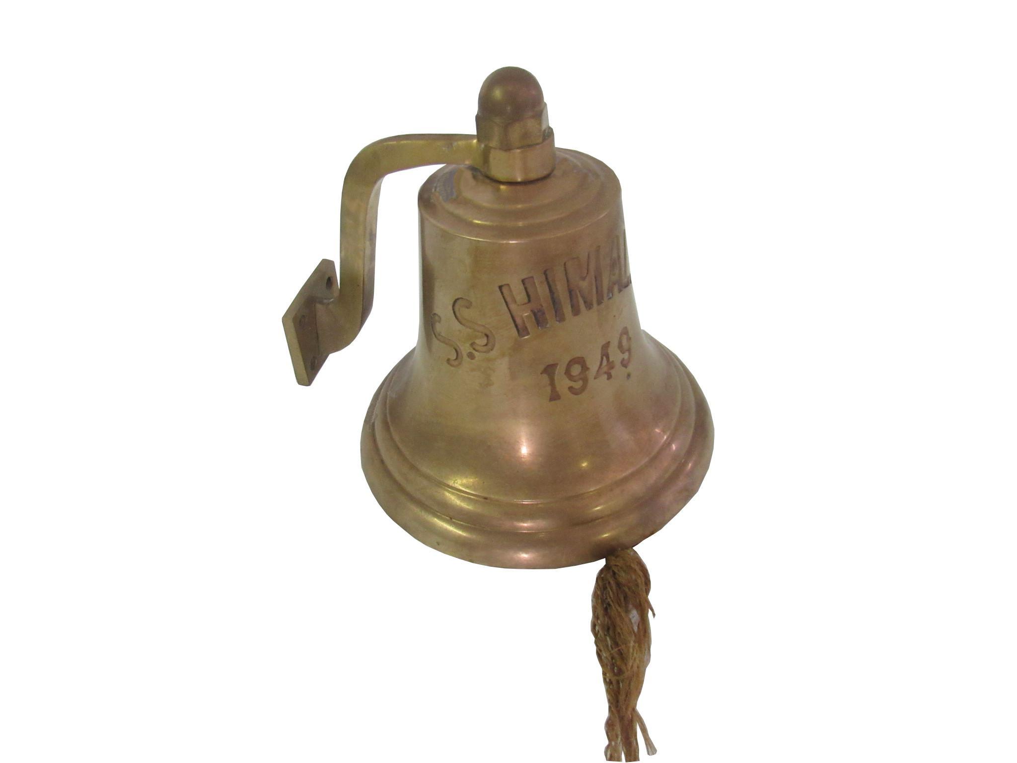 Vintage Ship S Bell U S S Himalaya 1949 Chairish