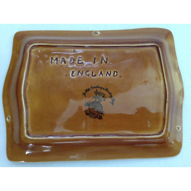 Antique English Huntsman Brown Butter Dish - Image 5 of 9