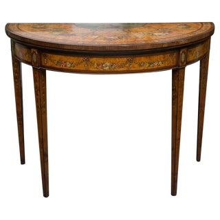 Late 19th Century Adams Style Demilune Game Table