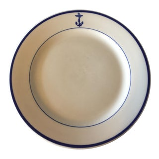 WWII US Navy Officer's Mess Hall Plate
