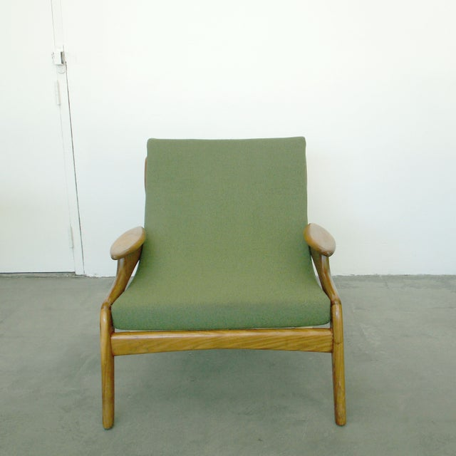 Italian Wood Sling Lounger - Image 3 of 9