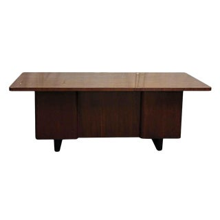 Art Deco Walnut Veneer Executive Desk