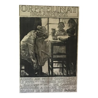 Rare 1914 Monumental Powerful Graphic Work by Frank Brangwyn