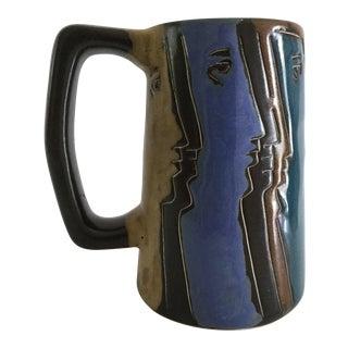 Vintage Mara Mexico Handcrafted Stoneware Stein Mug
