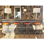 Image of Empiric Bar Stool in Cognac Leather - a Pair