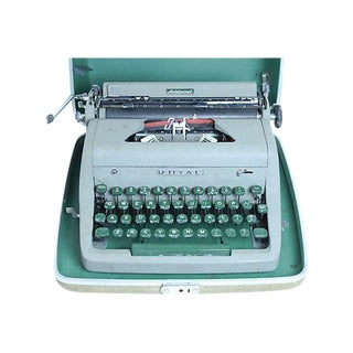 Royal Aristocrat Typewriter and Case