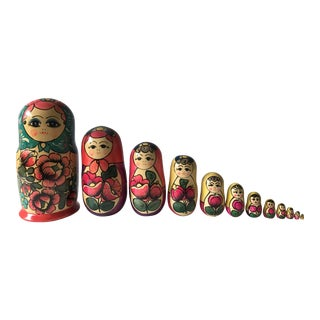 Hand Painted Russian Nesting Dolls - Set of 12