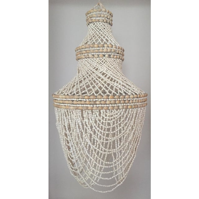 Beaded Shell Chandelier Lantern - Image 4 of 7