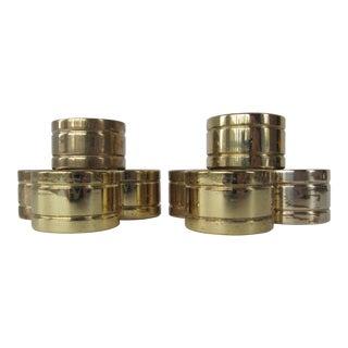 Vintage Brass Napkin Rings - Set of 8