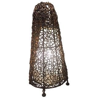 Brown Wicker Tangle Lamp