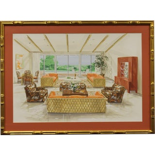 Tropical-Inspired Retro Living Room Painting