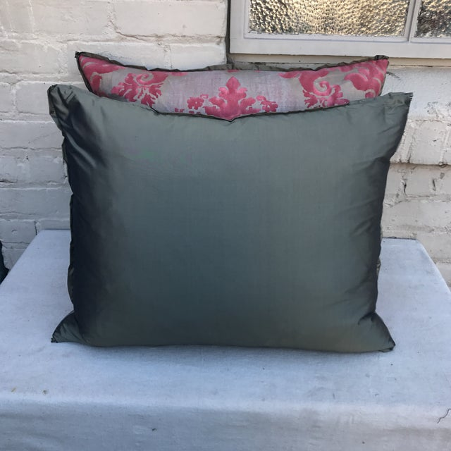 Pink & Gray Fortuny Pillows - A Pair - Image 5 of 5