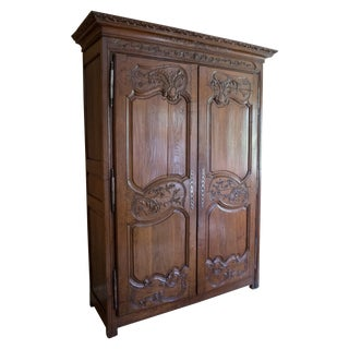 French Oak Armoire from Normandy