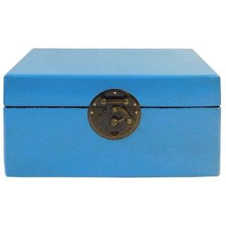 Rectangular Chinese Box in Light Blue
