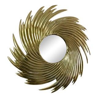Brass Starburst Mirror
