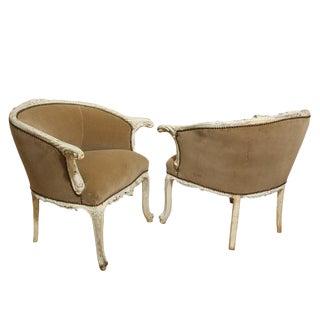 Velvet Italian Rococo Armchairs - A Pair