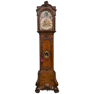 18th C. Gerrit Knip Burl Walnut Tall Case Clock