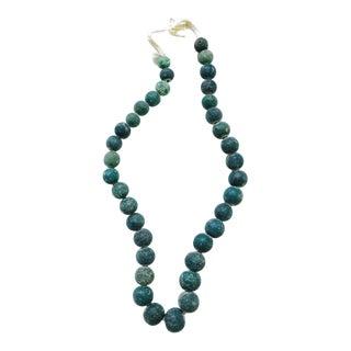 Teal Majapahit Trade Beads Strand