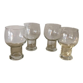 Vintage 12 Ounce Hollow Stem Glasses - Set of 4