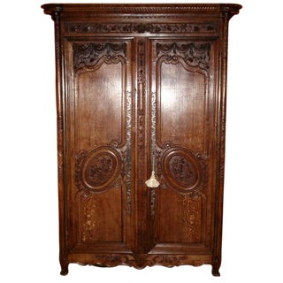 Beautiful One of a Kind French Normandy Armoire