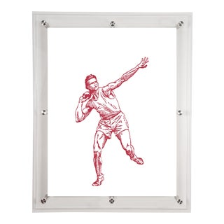 """Shot Put"" Acrylic Framed Wall Art"