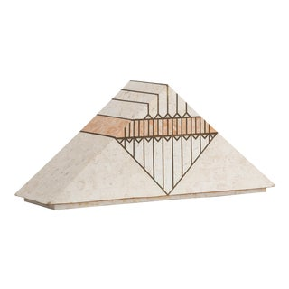 A Casa Bique designed Tessellated Stone Pyramid Box 1980s