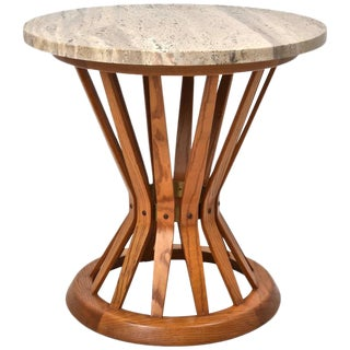 Edward Wormley for Dunbar Sheaf of Wheat Table with Travertine Marble Top
