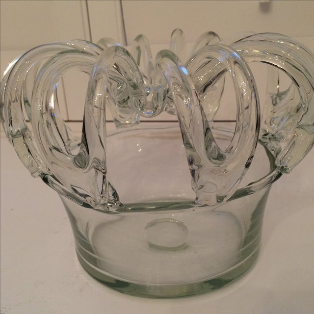 Image of Antique 19th Century Hand Blown Glass Bride's Bank