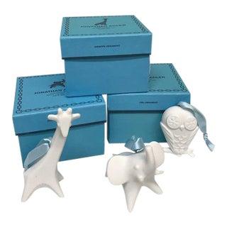 Jonathan Adler Porcelain Animal Ornaments - Set of 3