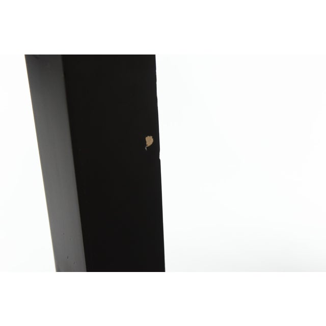Olive Burl & Black Lacquer Parsons Console Table - Image 6 of 6
