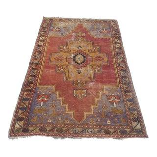Vintage Turkish Oushak Carpet - 3′8″ × 6′2″