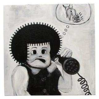 "Junior Martin ""Telemarketers"" Cartoon Painting"