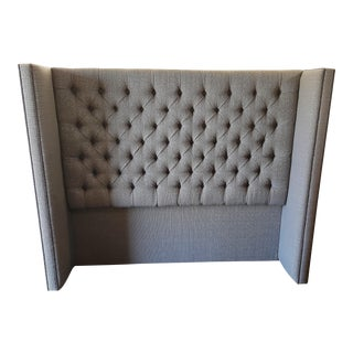 Custom Upholstered Wing Headboard