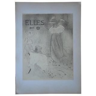 """Lautrec Vintage """"Elles"""" Lithograph"""