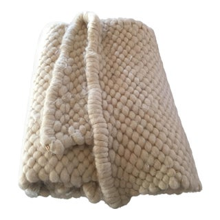Chunky South American Alpaca Wool Throw