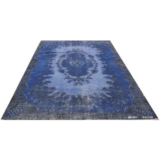 "Vintage Overdyed Turkish Rug - 6'6"" X 9'10"""