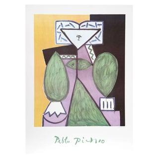Pablo Picasso -Femme en Vert Et Mauve Estate Litho