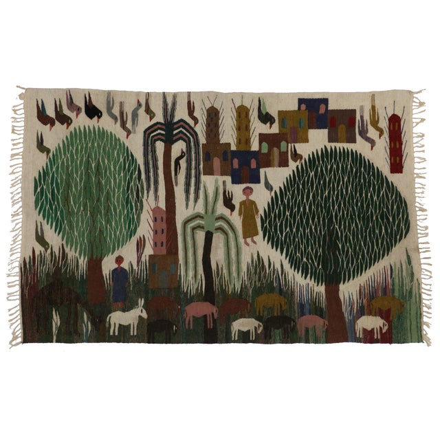 Image of Vintage Mexican Kilim - 4′5″ × 7′