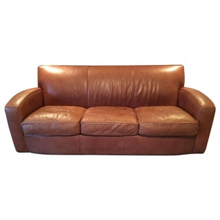 Room & Board Brown Leather Sofa