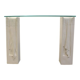 Vintage 70's Neoclassical Console Table