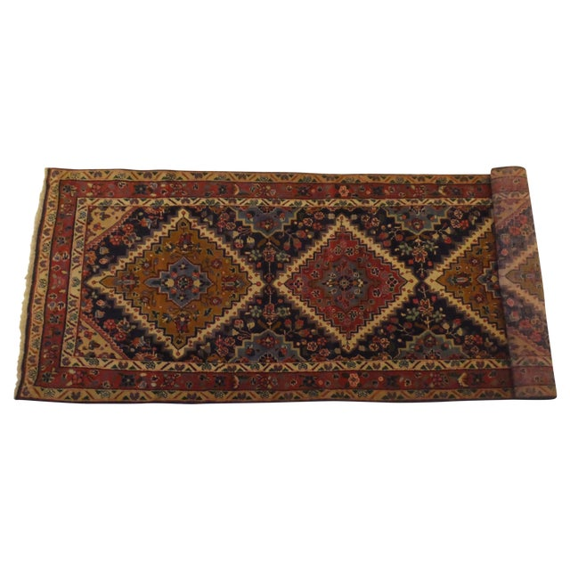 "Persian Hamadan Runner Rug - 9' x 3'6"" - Image 1 of 5"