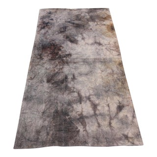 Vintage Turkish Tie Dye Oushak Curtain Kilim Rug- 3′ × 5′11″