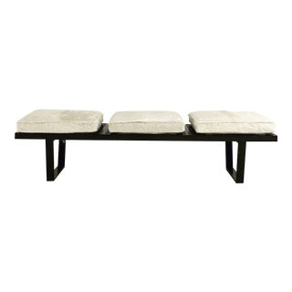 George Nelson Ivory Cowhide Cushion Model 4692 Platform Bench