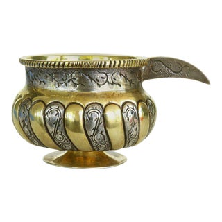 Mid-Century Mexican Sterling Silver and Vermeil Cup with Handle by Tane Orfebres