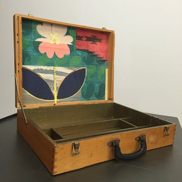 Vintage Artist Box With Collage Interior - Image 2 of 8